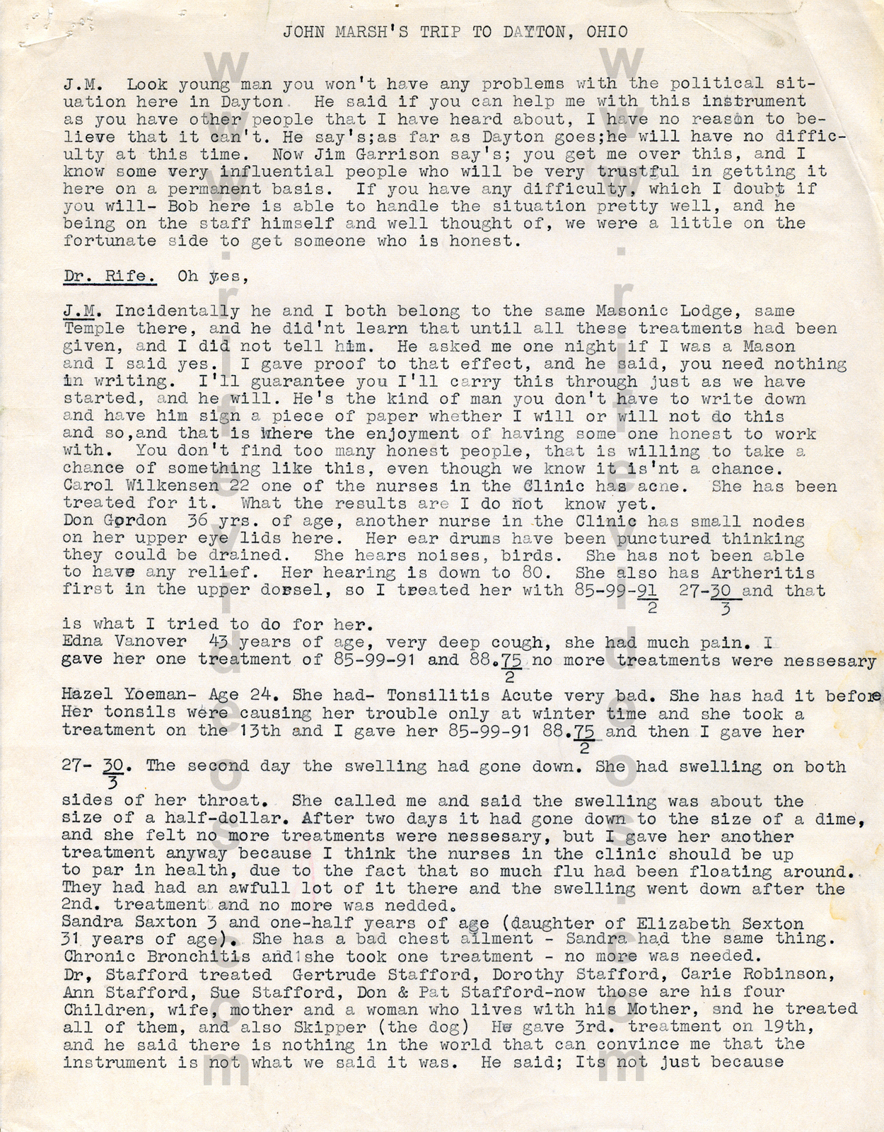 1957 John Marsh Trip To Dayton, Ohio P1 John Marsh Letters And Documents  About Dr
