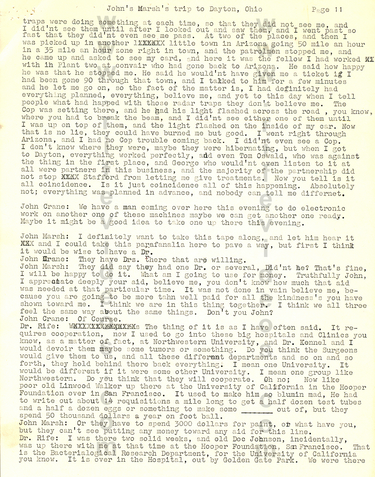1957 John Marsh Trip To Dayton, Ohio P11 John Marsh Letters And Documents  About Dr Howto:
