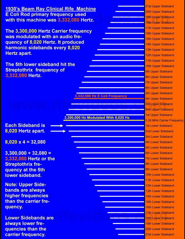 E Coli Sideband Chart